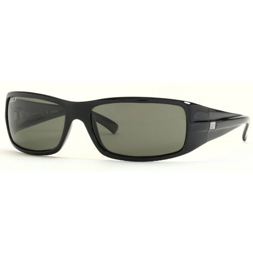 Ray Ban RB4057 Sunglasses - Glossy Black-Polarized w/ Grey Polarized 61mm