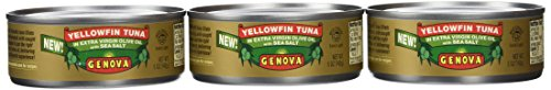 Genova Yellowfin Tuna in Extra Virgin Olive Oil with Sea Salt, 5 Ounce (Pack of 24) (Canned Tuna In Olive Oil compare prices)