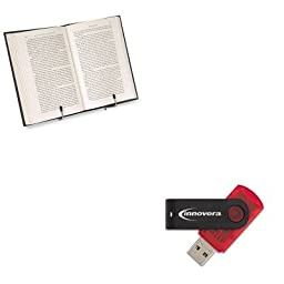 KITFEL10024IVR37600 - Value Kit - Fellowes Wire Study Stand (FEL10024) and Innovera USB 2.0 Flash Drive (IVR37600)