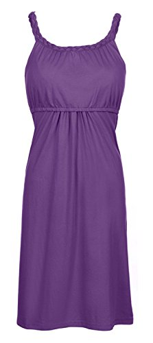 Milk Nursingwear Bamboo Maternity And Nursing Braided Nightgown-Purple-S front-962276