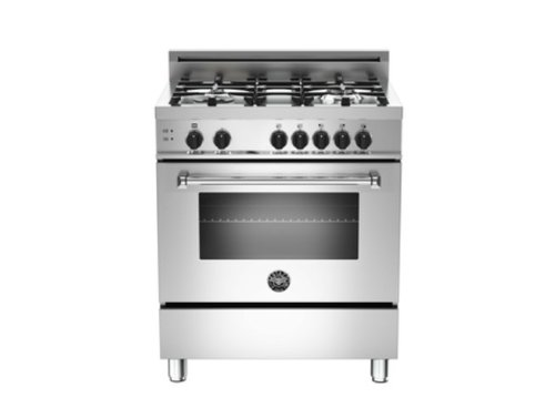Mas304Gasxe | Bertazzoni Master 30 Gas Range, 4 Burners, Natural Gas - Stainless Steel