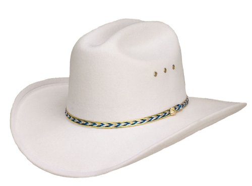 Western Express Kids White River Faux Felt Elastic Fit Cowboy Hat Size: Kids One Size