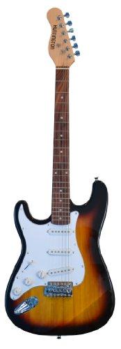 39-Inch-Sunburst-Full-Size-Lefty-Electric-Guitar-Left-Handed-Gig-Bag-Strap-Cable-DirectlyCheapTM-Translucent-Blue-Medium-Guitar-Pick