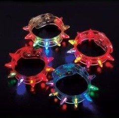 Light-Up Flashing Spike Bracelets (1 dz) by Krave Products