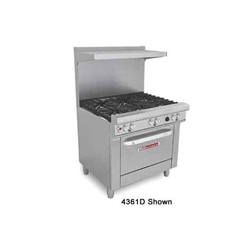 "Southbend 4361C-2Tr 36"" Restaurant Mixed Top Range - Ultimate 400 Series"