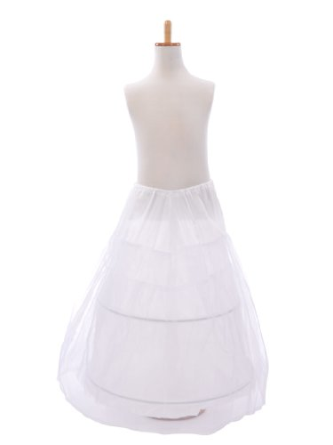 Topwedding White Flower Girl Nylon & Organza Bridal Petticoat/Crinoline