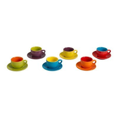 4 oz. 12 Piece Espresso Cup and Saucer Set
