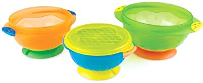Munchkin 3 Count Stay Put Suction Bowl (Pack of 2) from Munchkin