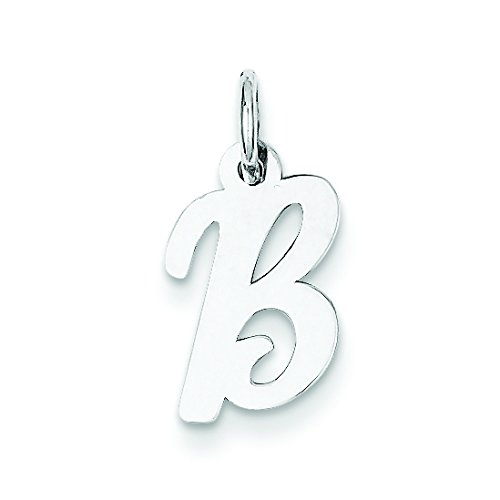 Sterling Silver Small Script Initial B Charm