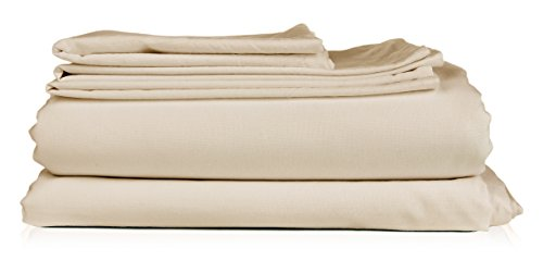 CGK Unlimited - King Size Sheet Set - 6 Piece Set - Hotel Luxury Bed Sheets - Extra Soft - Deep Pockets - Easy Fit - Breathable & Cooling Sheets - Wrinkle Free - Beige Bed Sheets