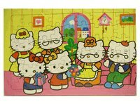 Sanrio Hello Kitty Jigsaw  Hello Kitty Puzzle Playset 60 pcs