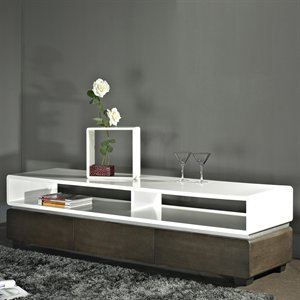 B-Modern BM-635-BRN Director TV Stand, Brown Oak Veneer (B005QOOKHO)