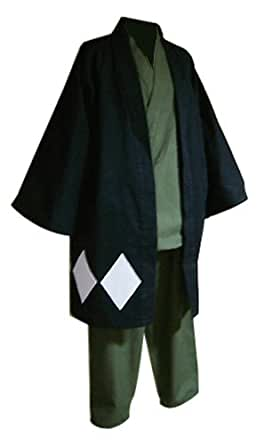 CTMWEB Bleach Cosplay Costume - Kisuke Urahara Set with Hat Medium
