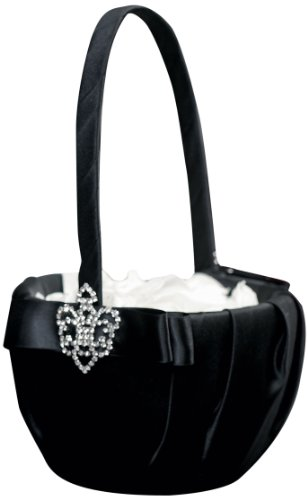 Weddingstar-Beverly-Clark-The-Crowned-Jewel-Flower-Girl-Basket-Black