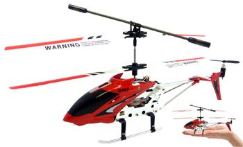 JPC 3ch Syma S107 Mini RC Helicopter Metal Series W/ Gyro Red Lithium Rechargeable Battery New