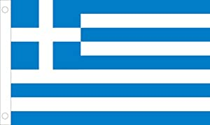 Allied Flag Outdoor Nylon Greece United Nation Flag, 5-Feet by 8-Feet