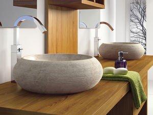 Bathco lavabo bathco sobre encimera piedra fiji beige for Lavabo sobre encimera piedra