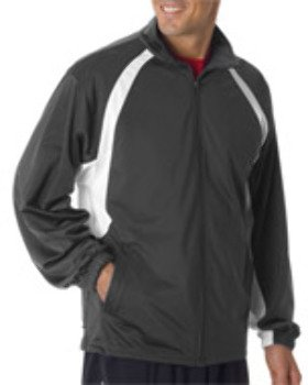 Badger Badger Adult Brushed Tricot Hook Jacket, Graphite/ White, 4Xl