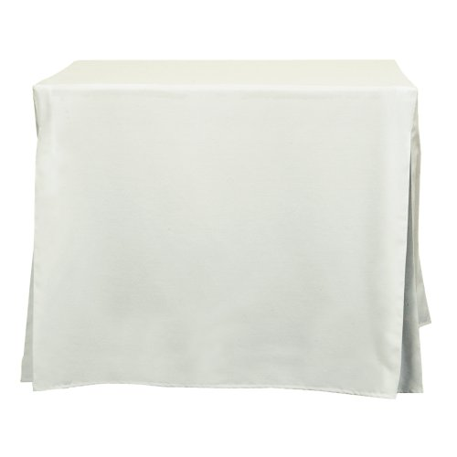Tablevogue 34-Inch Fitted Folding Card Tablecloth, White