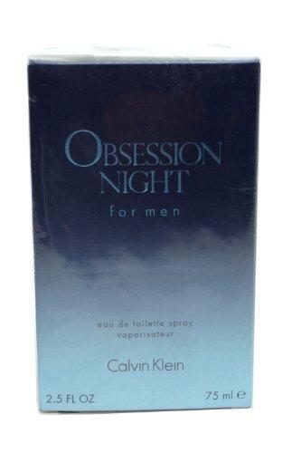 Calvin Klein Obsession Night fragrance for men by Calvin Klein Eau De Toilette Spray 2 5 oz