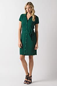 Short Sleeve Belted Polo Dress
