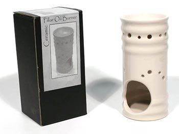 Ashleigh & Burwood Pillar Oil Burner - Cream Gloss (QTC03)