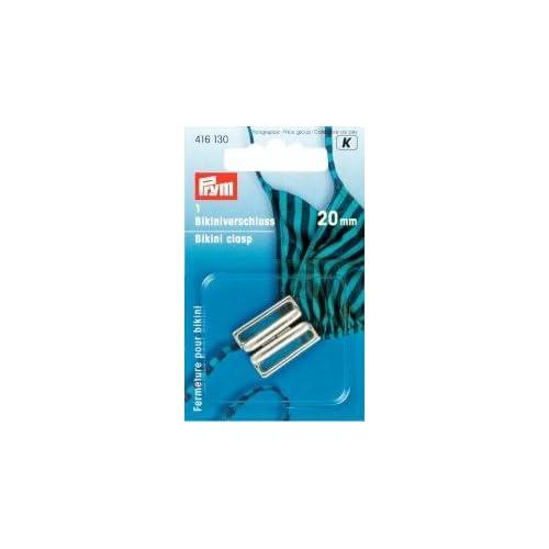 com: PRYM 416130 Bikini clasp Size 20mm metal silver-coloured, 1 piece