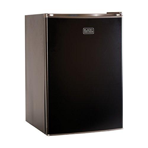 BLACK+DECKER BCRK25B 2.5 Cu. Ft. Energy Star Refrigerator with Freezer, Black (Black Refrigerator Small compare prices)