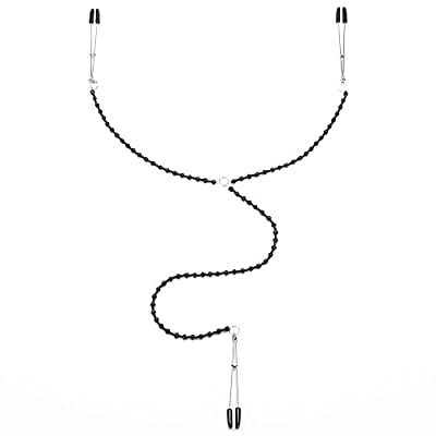 Bondage Boutique Beaded Nipple Tweezer and Clit Clamp Body Jewellery
