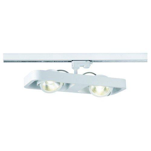 SLV LED 3-Phasen Strahler Lynah, double, 2 x 10W, 3000 K, 24 Grad, inklusiv Adapter, weiß 152581