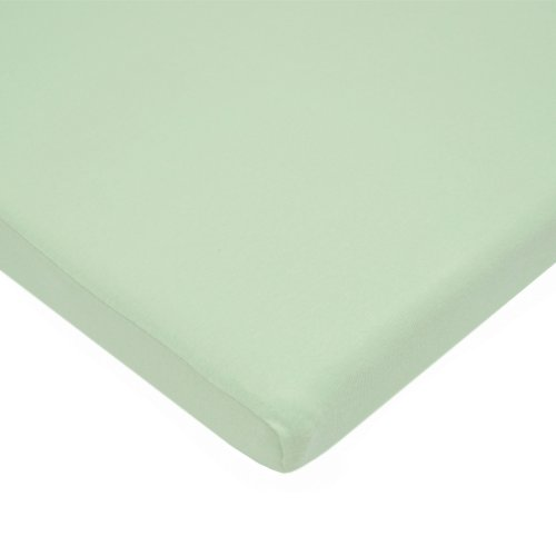 American Baby Company 100% Cotton Value Jersey Knit Bassinet Sheet, Celery