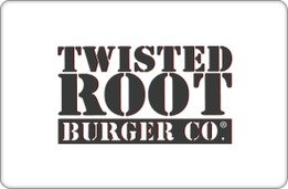 Twisted Root Burger Co. Gift Card ($100) (Chef Shake Burger compare prices)