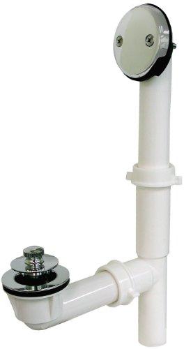 PlumBest P37502 PVC Lift and Turn Tubular Bath Waste Kit, Satin Nickel