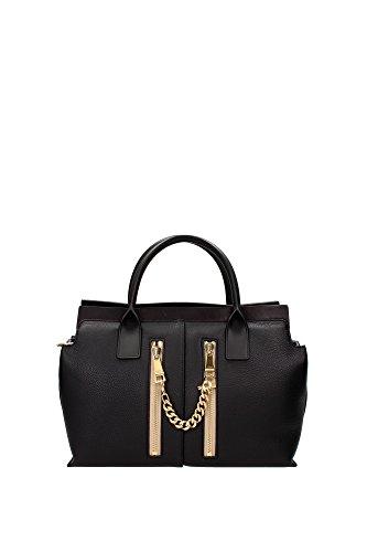 sac-a-main-chloe-femme-cuir-noir-et-or-3s0401965001-noir-14x17x31-cm