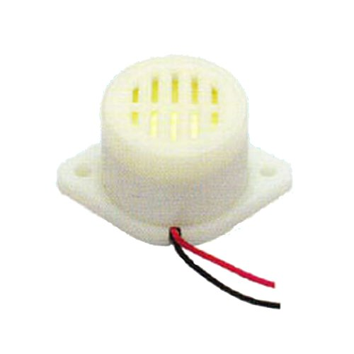 Generic Pack Of 150Pcs Dc Piezo Buzzer Sfm-27-Iib-12V-X150 12V 90Db 3000Hz Intermittent Sound White Case
