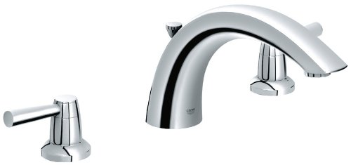 Grohe 25 071 000 Arden 3-Hole Roman Tub Faucet, Starlight Chrome front-630489
