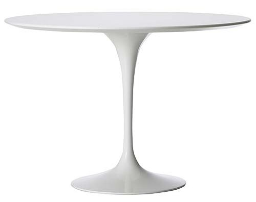 "40"" Saarinen Style Tulip Dining Table in White - Ships in 24 Hours with Money Back Guarantee!"