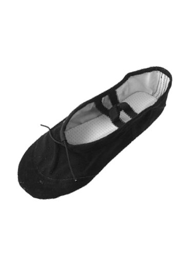 Ladies Black Canvas Gymnastics Dancing Ballet Shoes US Size 5.5