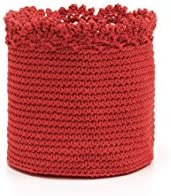 Heritage Lace Mode Crochet Rectangle Baskets with Crochet Edge 5 by 5 by 6-Inch10 by 6 by 6-Inch Rub