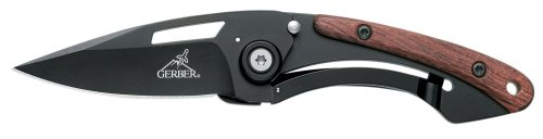 Gerber 22-47168 Trendy Folding Clip Knife With Fine Edge And Pear Wood Onlay