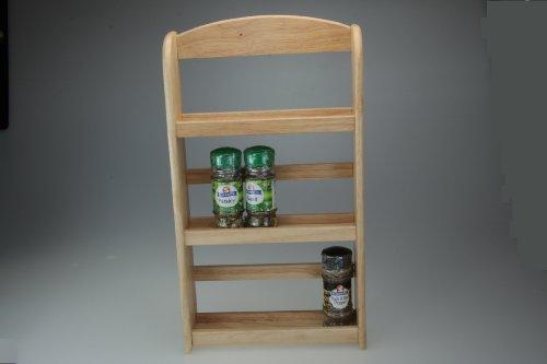 Solid Wood Three Tier Spice Rack