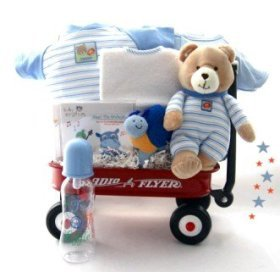 All Boy Baby Gift Basket Wagon