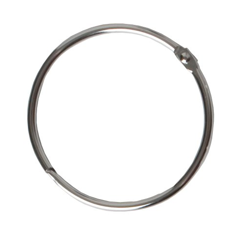 Maytex Mills Metal Circular Shower Ring, Chrome, Set of 12 (Shower Rings Stainless Steel compare prices)