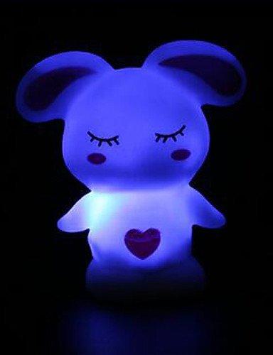 CinCin 6 * 5 * 8 centimetri di Natale 7 colori bugs bunny batteria una luce di notte lampada 1pc , multi color