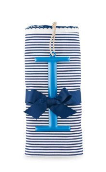 Mud Pie I Cotton Receiving Blanket, Blue