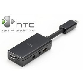 Htc Mini-Usb Headset Adapter (Mini Usb To 2.5Mm & 3.5Mm & Mini Usb) - Original (Oem) Sc5310