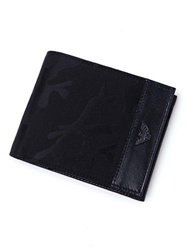 (エンポリオアルマーニ) EMPORIO ARMANI カモフラージュ 二つ折り財布 【EAYEM122YF18V】 [並行輸入品] ブラック / -