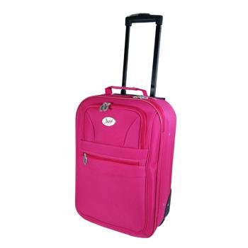 "20"" Small Fuschia Pink Jazzi High Quality Hand Luggage Cabin Approved Bag Travel Holiday Weekend Overnight Suit Case by Jazzi"