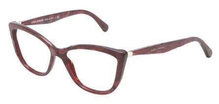 DOLCE & GABBANA Eyeglasses DG 3138 Gauze Red