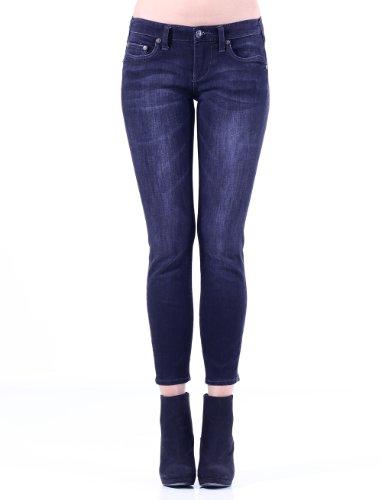 Stitch's Women's Ankle Jeans Skinny Denim Pants Zip Fly 26
